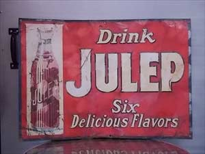 Julep Tin Sign